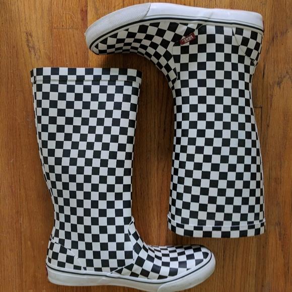 7fae194ea7 Vans Checkered Rain Boots